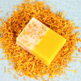 Learn to make this delightful cold process soap with Citrus Orange and Dried Calendula petals to impress all of your DIY friends!