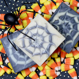 Spider Web Cold Process soap for Halloween
